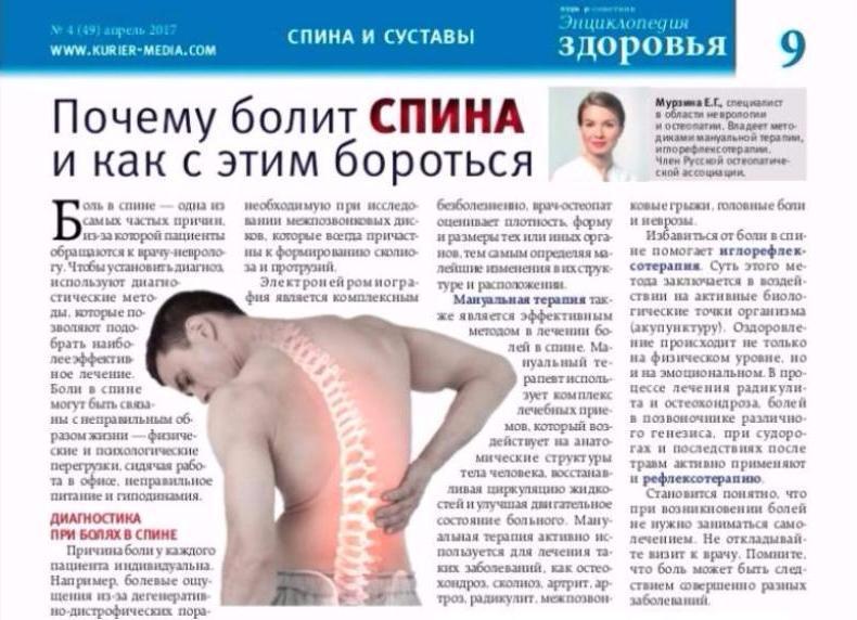 Почему после сна болит спина в области лопаток